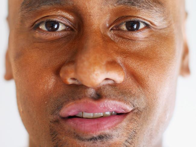 Lomu poses for a portrait prior to the Wellington Bodybuilding Championships in 2009.