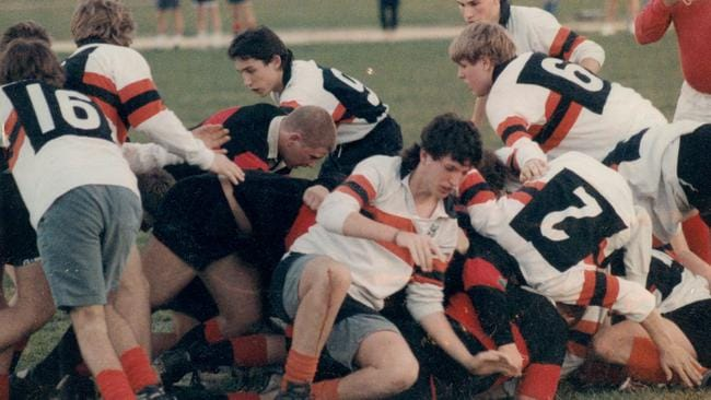 Mark in his high school rugby days.