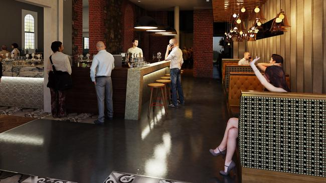 An artist's impression of how the ground floor of the Cathedral Hotel will look after the planned renovation.