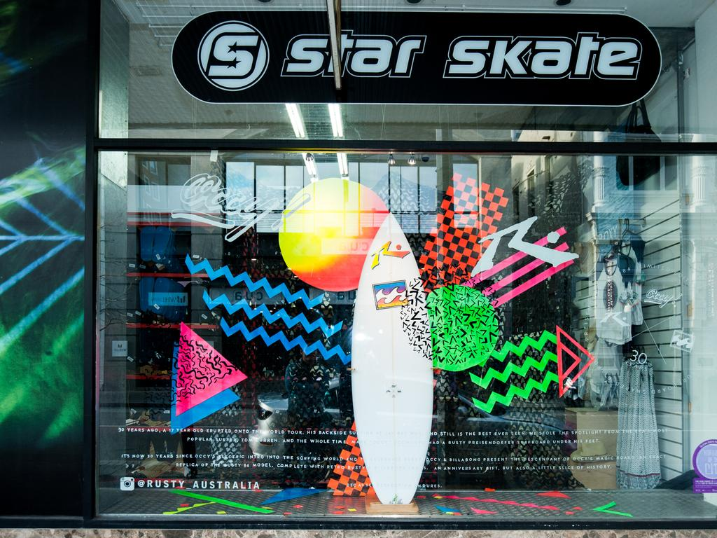 Windows of the City - 33 - Star Surf and Skate. Photo: Manny Tamayo.