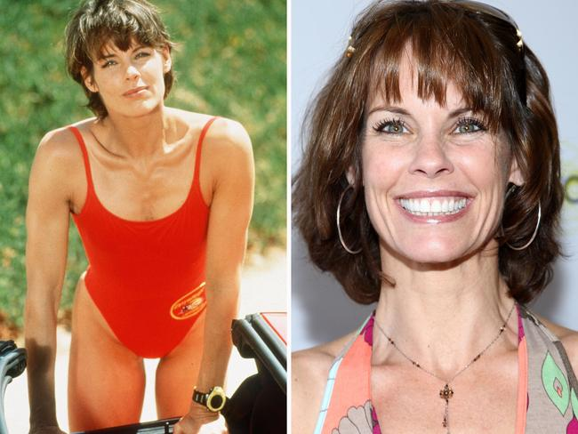 Alexandra Paul as Stephanie Holden and today. Picture: Getty