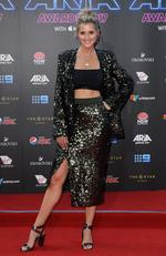 Kristy Lee Peters arrives on the red carpet for the 31st Annual ARIA Awards 2017 at The Star on November 28, 2017 in Sydney, Australia. Picture: AAP