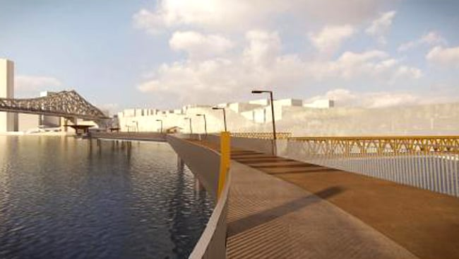 An artist's impression of part of the new Riverwalk.