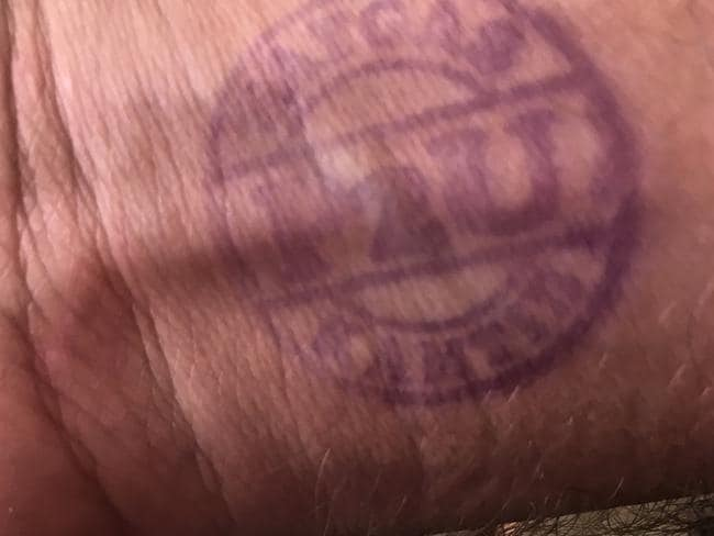 If you gain entry to Kerobokan you'll be stamped with this visitor's pass. Picture: Ian Lloyd Neubauer