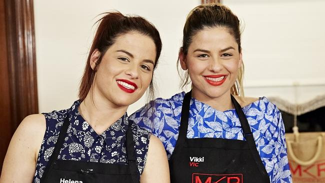 My Kitchen Rules contestants Helena and Vikki. Supplied by Seven.