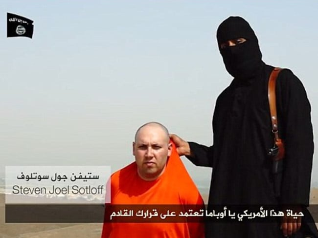 Execution threat ... The Islamic State has threatened journalist Steven Sotloff will be the next hostage to be executed if the US does not halt air strikes on Iraq.