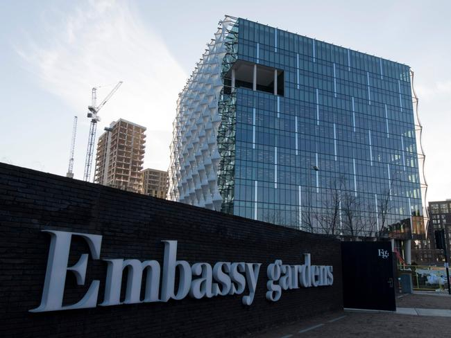 The new US Embassy in Embassy Gardens in southwest London. Picture: AFP
