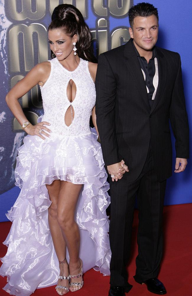 In happier times ... British glamour model Katie Price was married to Aussie singer Peter Andre. Picture: AFP/Leon Neal