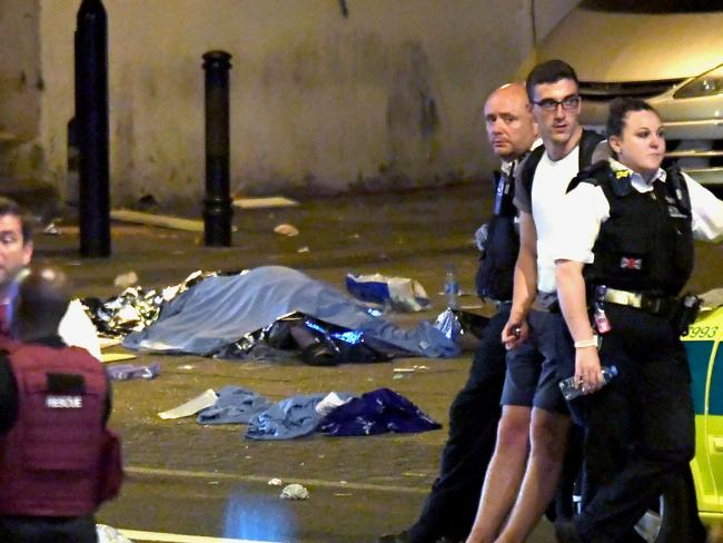 At least 10 people were injured in the attack. Picture: James Gourley/REX/Shutterstock