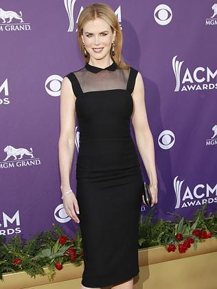Nicole Kidman wears a L'Wren Scott dress at the 47th Annual Academy of Country Music Awards in Las Vegas. Picture: AP