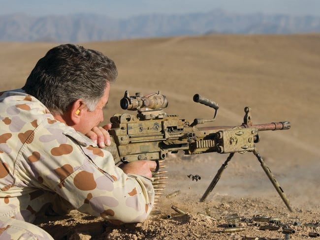 Kill or be killed ... SAS soldier Warrant Officer Clint Palmer in Afghanistan. Picture: Department of Defence