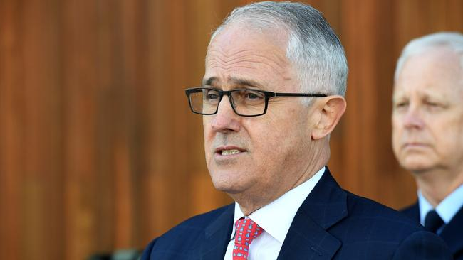 AuPrime Minister Malcolm Turnbull has been talking tough on national security today. Picture: AAP