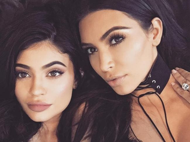 Kim Kardashian reportedly cried when she heard Kylie Jenner was pregnant. Picture: Instagram