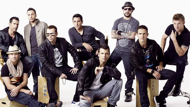 This is Backstreet Boys and New Kids on the Block from their joint tour. NKOTBSB if you will.