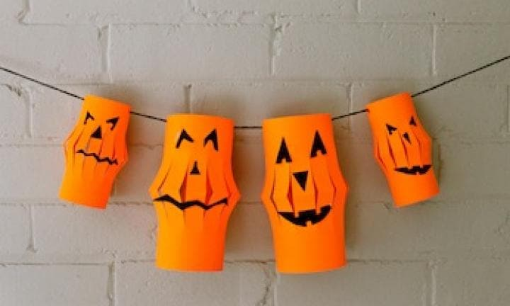 make halloween paper lanterns - How To Make Halloween Lanterns