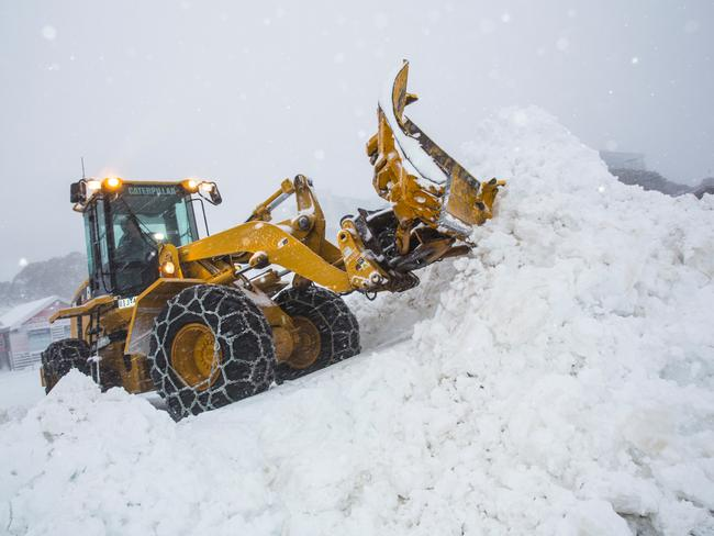 Alright, alright! Is there such thing as too much snow? Picture: News Corp Australia