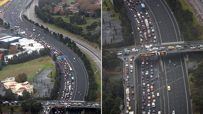 The road closure caused havoc for peak-hour commuters this morning. Picture: Norm Oorloff
