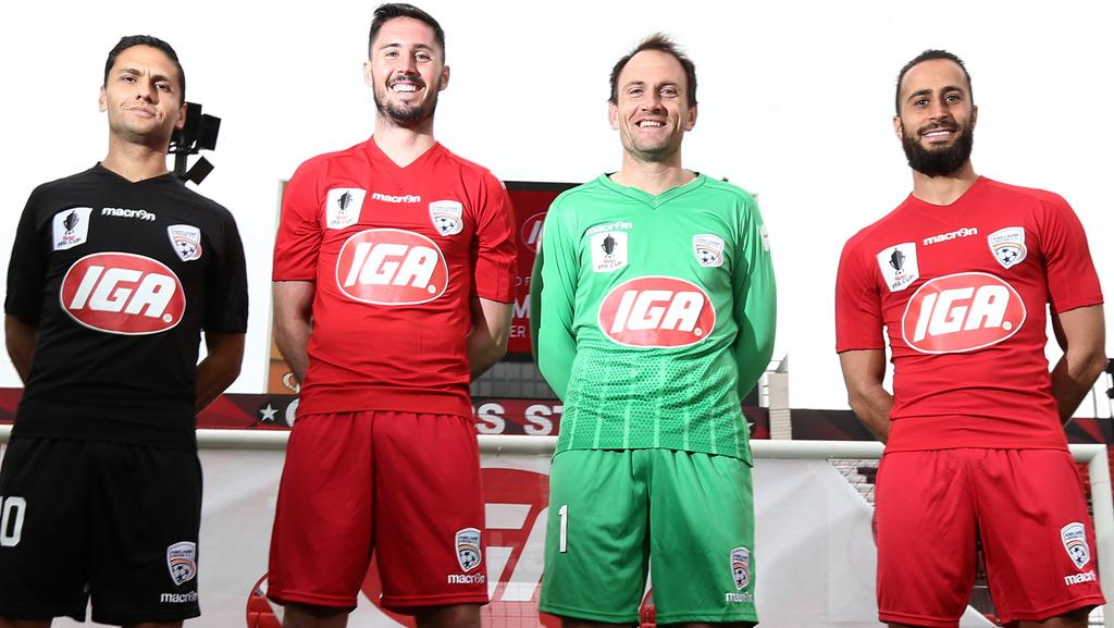 Adelaide United Picture: Adelaide United Celebrating As IGA Signs Up As Major