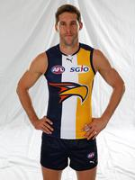 Pic George Salpigtidis AFL Captains shoot at Adeladie Oval, 5th March, 2014. West coast Eagles' Darren Glass