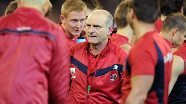 Dean Bailey during his troubled tenure as Demons coach.