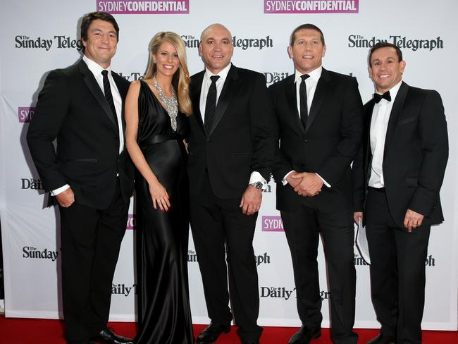 Nathan Hindmarsh, Lara Pitt, Gordon Tallis, Brian Fletcher and Matthew Johns.