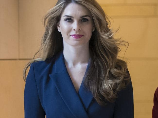 The upcoming departure of White House communications director Hope Hicks could be a serious challenge for the President. Picture: AP Photo/J. Scott Applewhite
