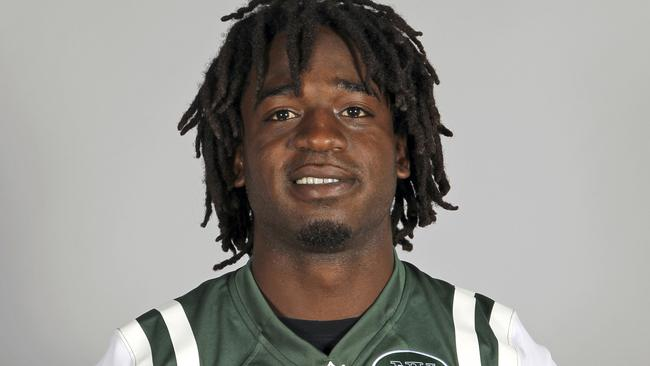 This is a 2013 file photo showing New York Jets running back Joe McKnight.