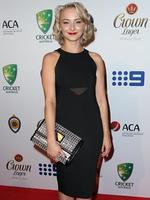 Ruby Osman Mulraney on the red carpet arriving at the 2014 Allan Border Medal held at Doltone House at Hyde Park.