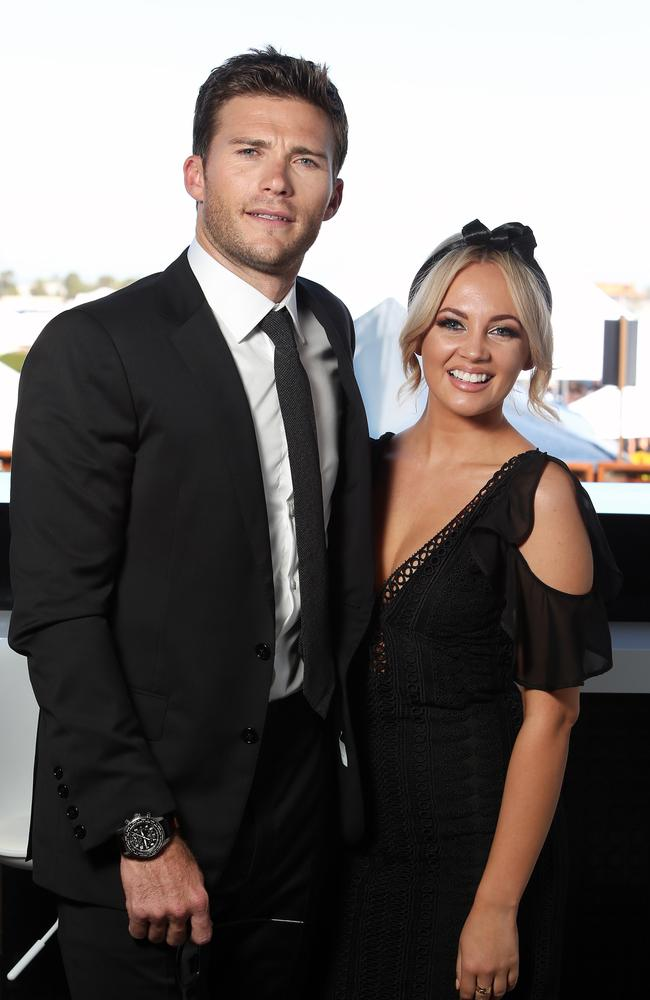 Scott Eastwood and Samantha Jade. Picture: Richard Dobson