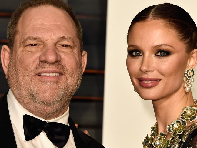 Georgina Chapman and husband Harvey Weinstein. Picture: Getty