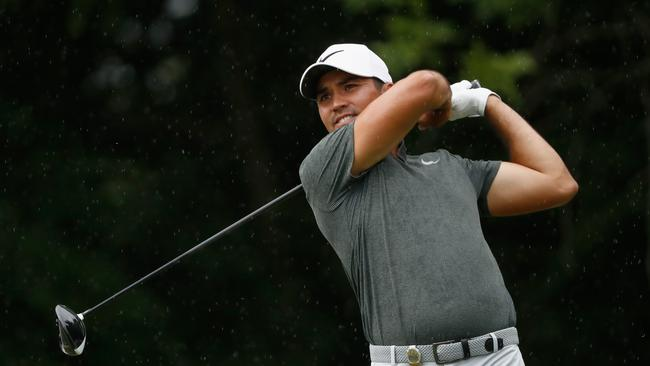 Jason Day's in contention after the second round of the PGA Championship.