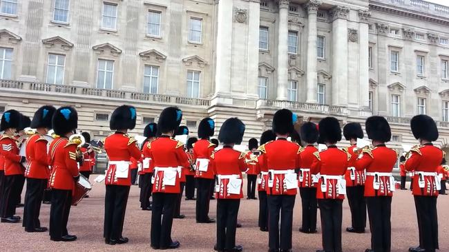 The Queen's Guard guard the Queen's official royal residences in the UK.