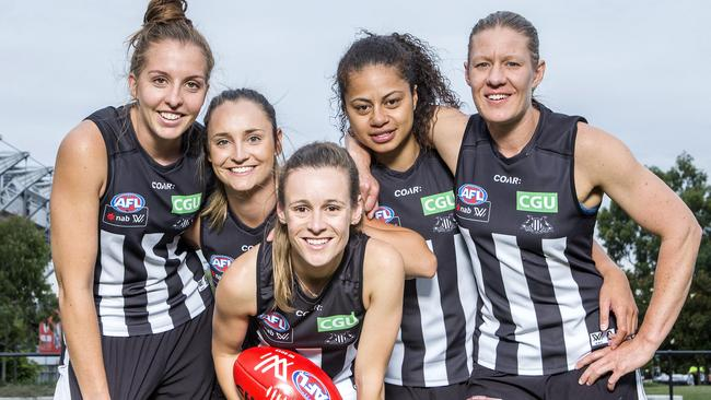 Emma King, Nicola Stevens, Alicia Eva, Helen Roden and Meg Hutchins at the Holden Centre. Picture: Sarah Matray