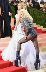 """Lady Gaga and Kate Hudson attend the """"Manus x Machina: Fashion In An Age Of Technology"""" Costume Institute Gala at Metropolitan Museum of Art on May 2, 2016 in New York City. Picture: Getty"""