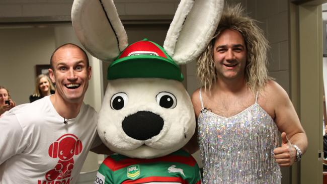 Nova's Fitzy and Wippa at the Rabitohs Vs Roosters game. Cheers!