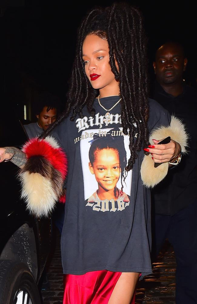 Rihanna wearing... Rihanna. Picture: Splash News Australia