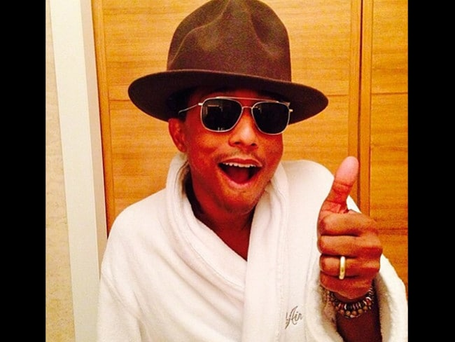 Singer Pharrell Williams and his infamous hat. Picture: Instagram