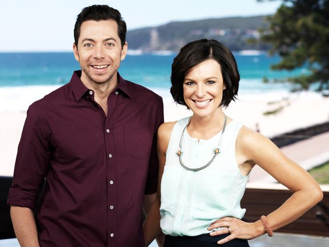"""Wake Up"" hosts James Mathison and Natarsha Belling soldiered on as a twosome after the axe fell on Natasha Exelby. Picture: Channel 10"