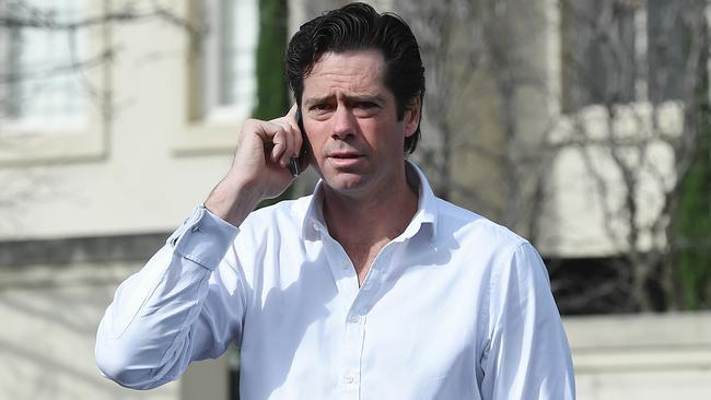 Gillon McLachlan says the court case has nothing to do with the AFL. Picture: Jake Nowakowski