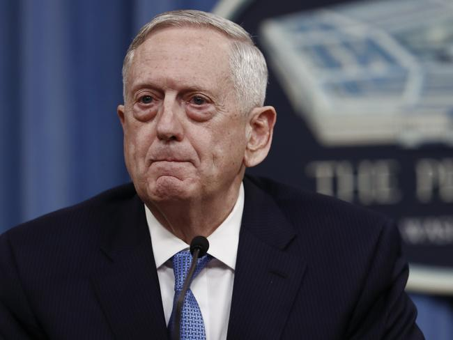 US Defence Secretary Jim Mattis said North Korea's latest missile test was an act of provocation. Picture: AP Photo/Carolyn Kaster, File