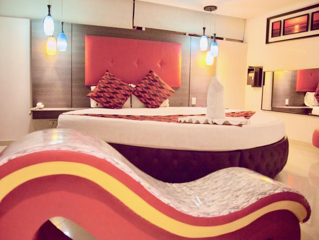 A room inside one of the Love Hotels. Picture: Mariah Ore