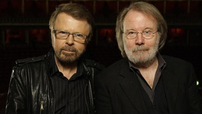 Former ABBA members Bjorn Ulvaeus and Benny Andersson will be executive producers. Picture: Joel Ryan.