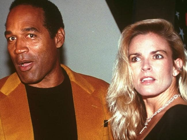 In the past ... OJ Simpson and Nicole Brown Simpson in 1993. Picture: AP/Paul Hurschmann