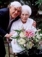 Lou with his mother Irene Mitchell on Mother's Day 1997.