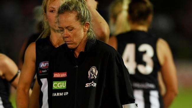 Kate Sheahan in the moments after the match. Picture: AAP Images