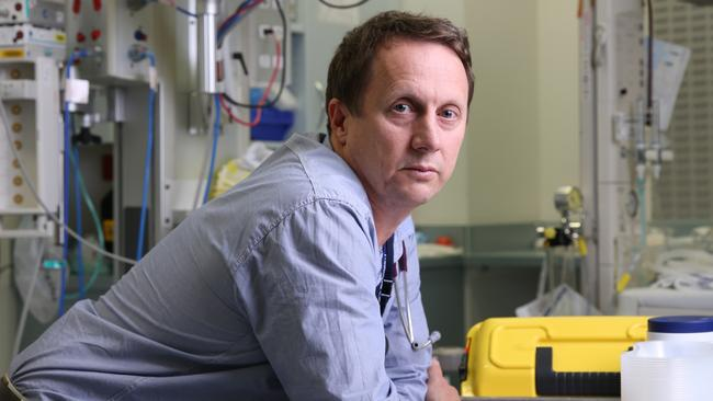 The Royal Brisbane's acting emergency medicine director, Dr Bill Lukin. Picture: David Kelly