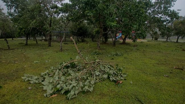 Trees down in Nhulunbuy after Cyclone Nathan passed through. Picture: Matt Burman Photography