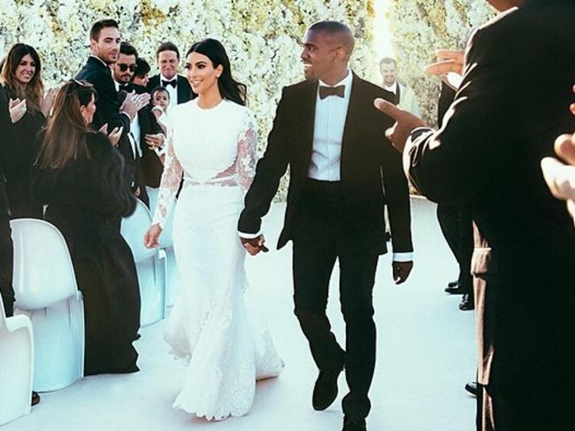 Just married: Kim Kardashian and Kanye West. Picture: Instagram kimkardashian