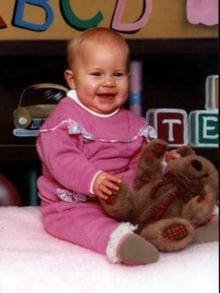 Sarah Folbigg at age 6 months in early 1993. She would die four months later. Photo: Supplied