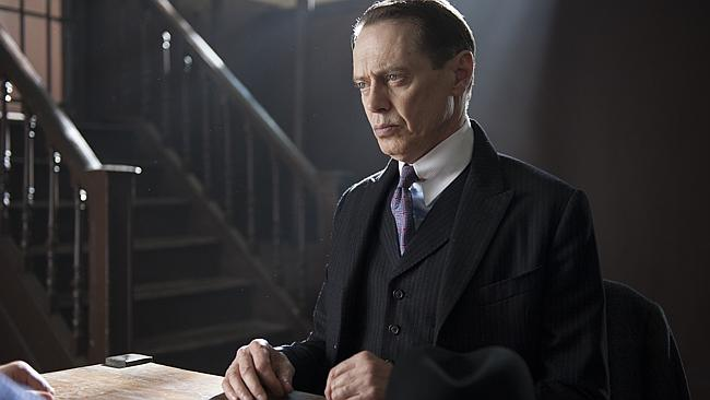 Steve Buscemi as Nucky Thompson in Boardwalk Empire. Supplied by Foxtel